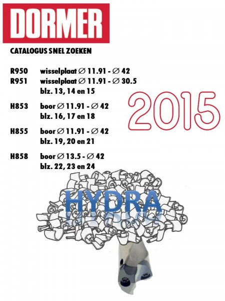Voorblad HYDRA catalogus